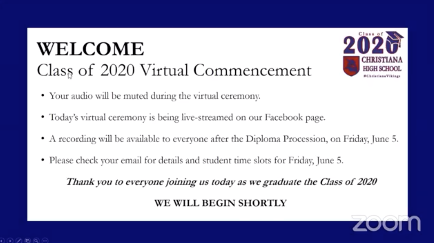 CHS Commencement live streamed June 1 at 7pm