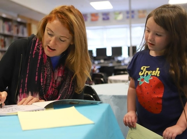 Author visits Downes Elementary School Students