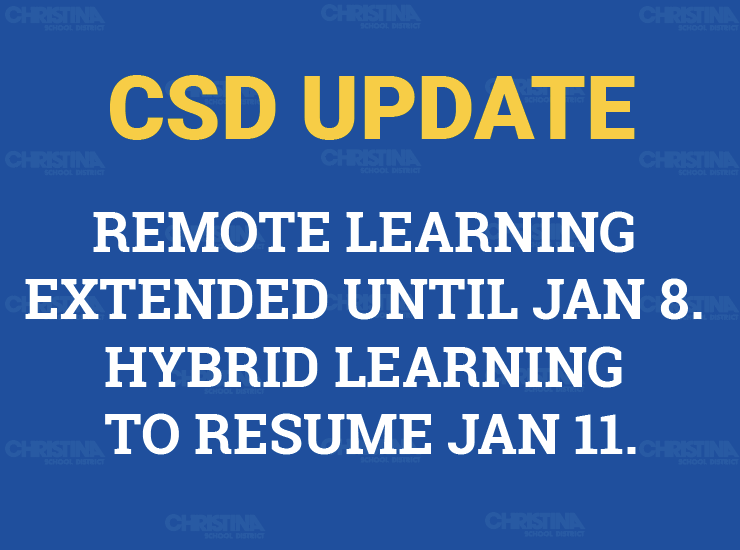 CSD UPDATE: Remote Learning Extended Until Jan 8