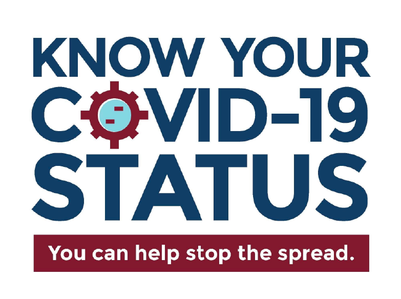 Know your status. Find a testing site near you.