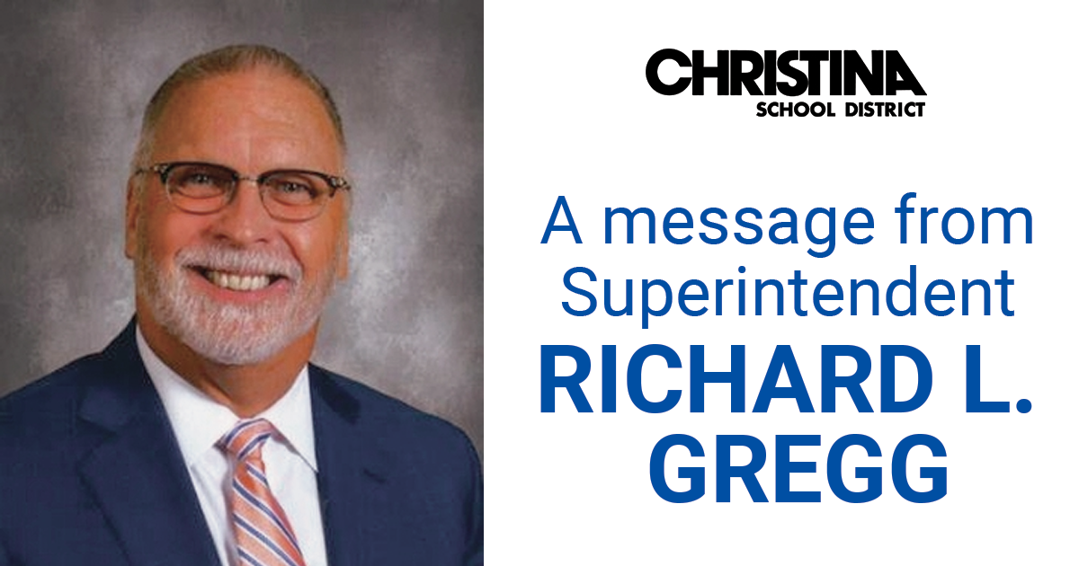 Message from Superintendent Richard L. Gregg
