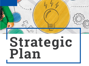Planning concept graphic with the words 'Strategic Plan'