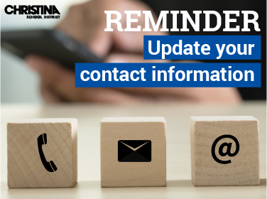 Reminder-Update your contact information
