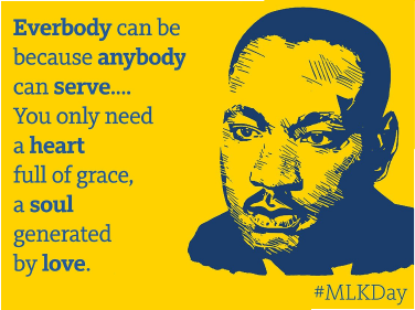 Image and quote of Dr Martin Luther King