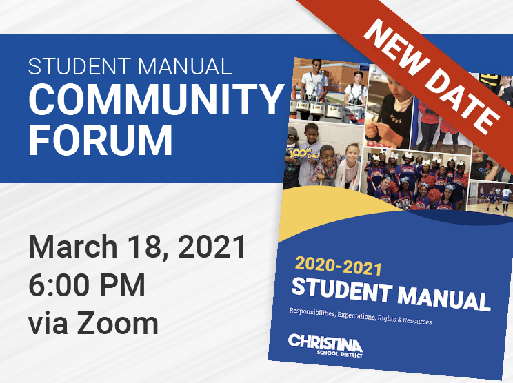 Student Manual Community Forum New Date March 18, 6 PM