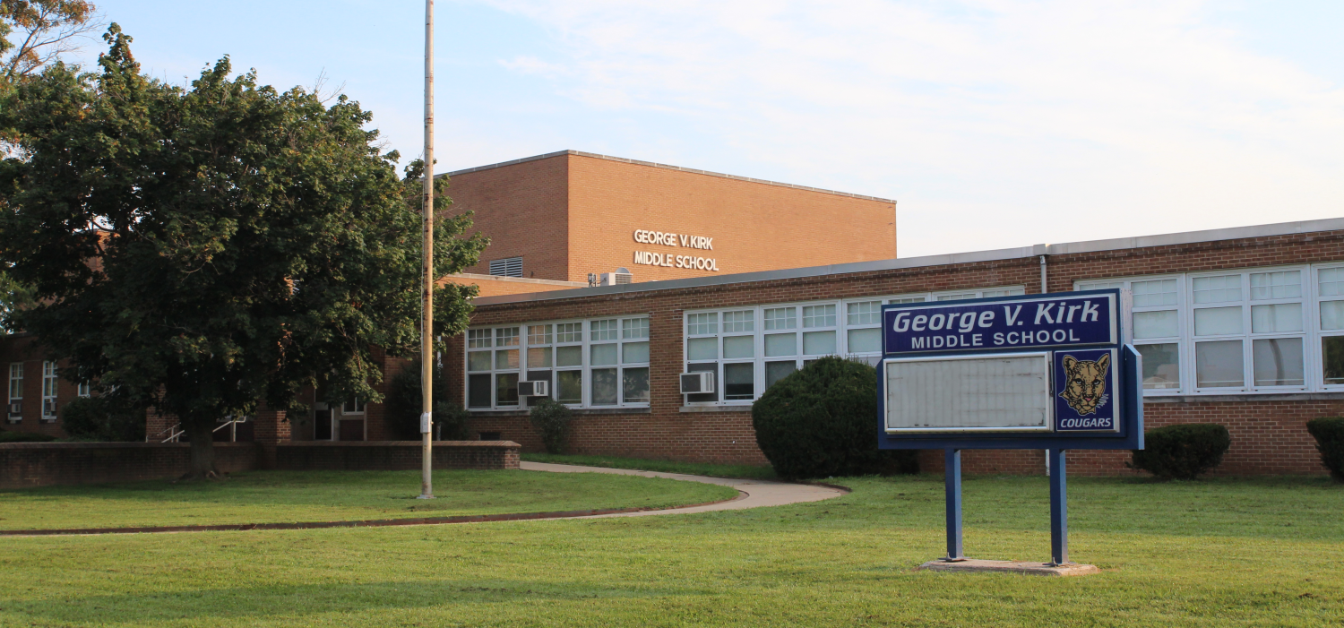 Photo of the front of Kirk Middle School