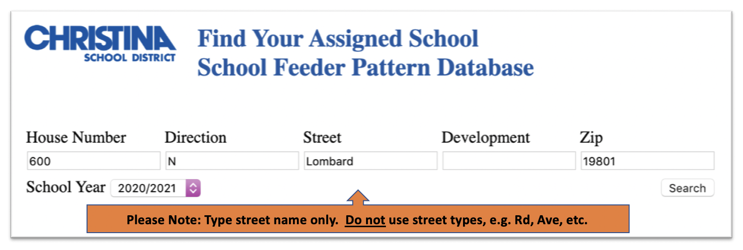 School Locator Sample