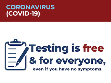 COVID-19: Testing is free for everyone