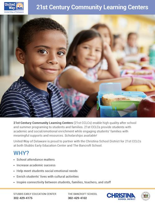 21st Century Community Learning Centers Flyer