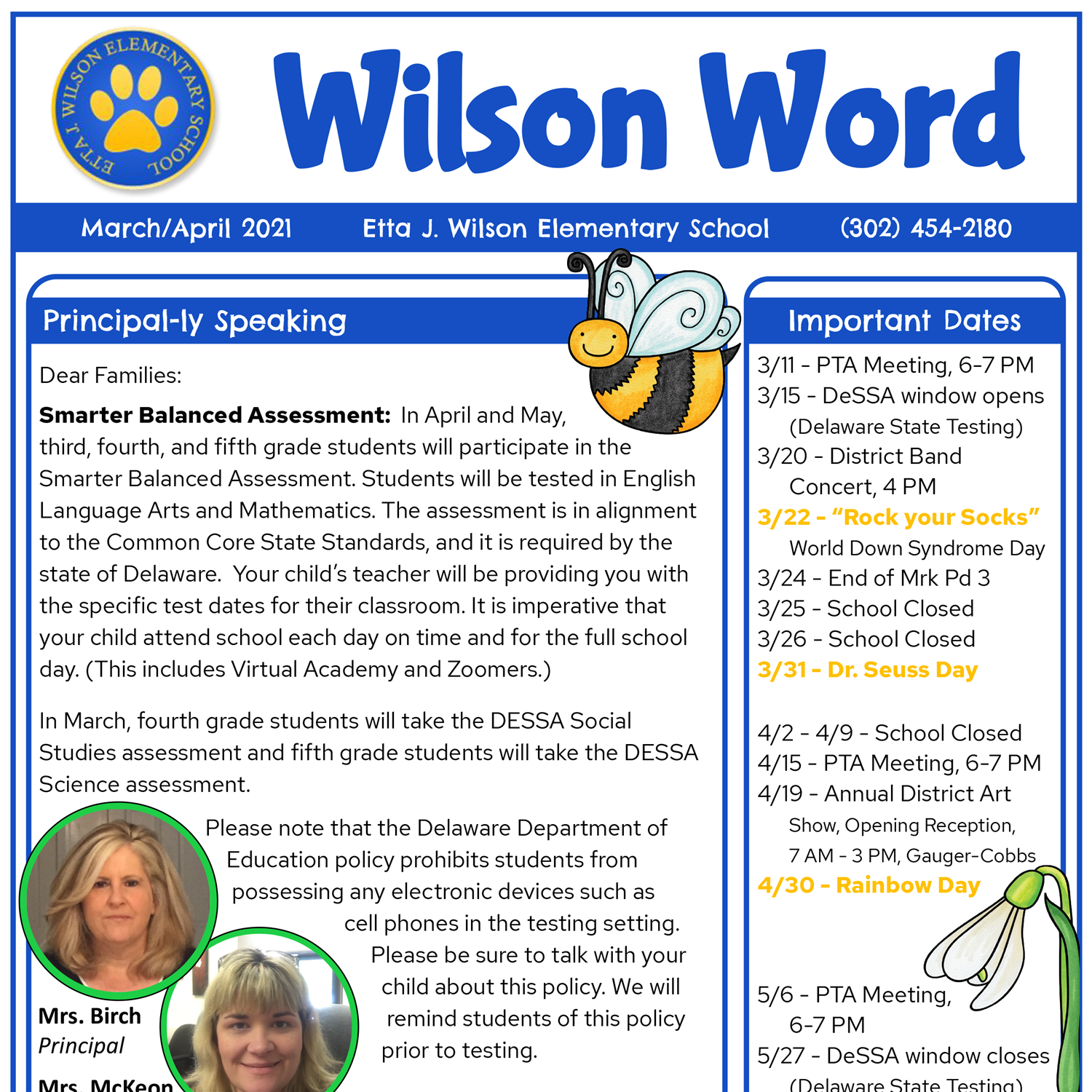 Check out Wilson's March/April Newsletter
