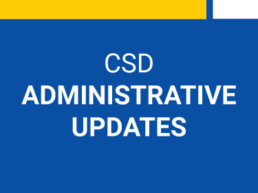 Administrative Updates: September 2020