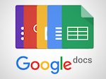 colorful images of google docs icons