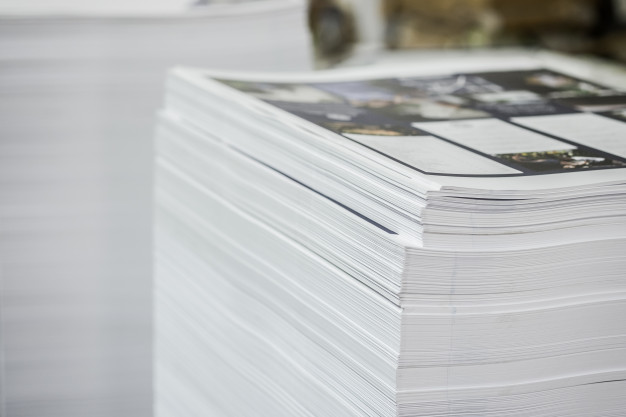 stack of high quality printed paper